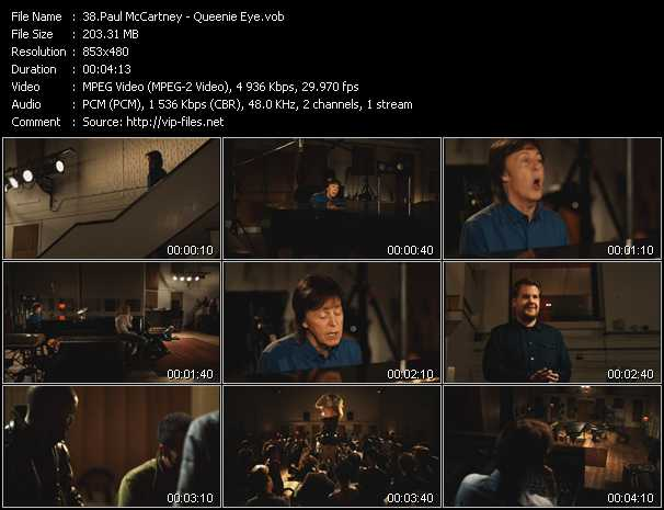 Paul McCartney video screenshot