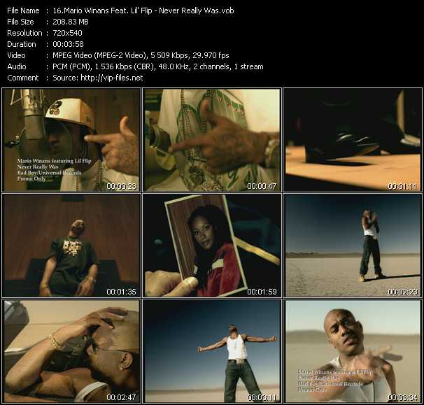 Mario Winans Feat. Lil' Flip video screenshot
