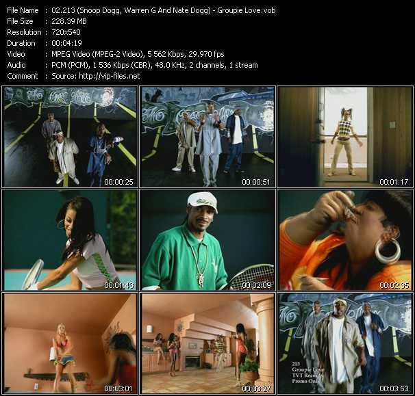 213 (Snoop Dogg, Warren G And Nate Dogg) video screenshot