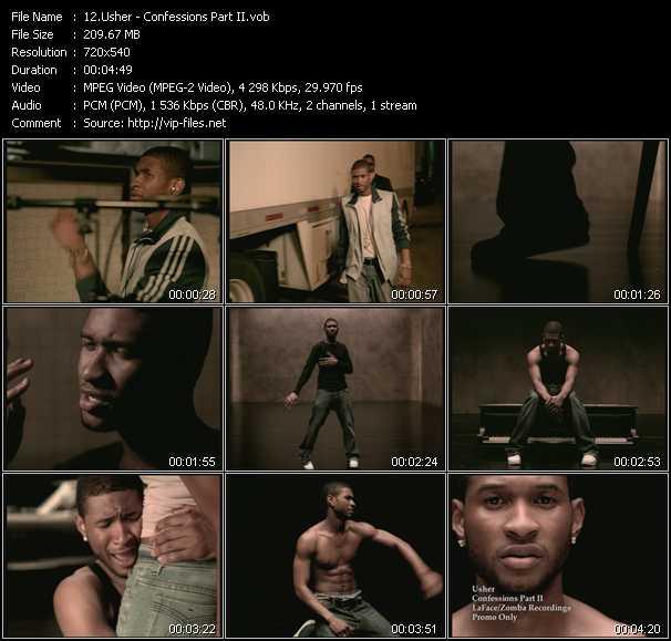 Usher video screenshot