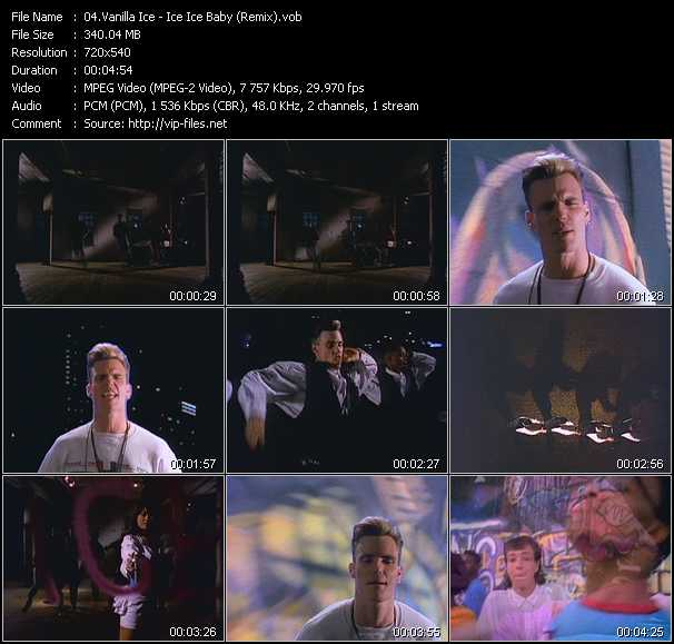 Vanilla Ice video screenshot