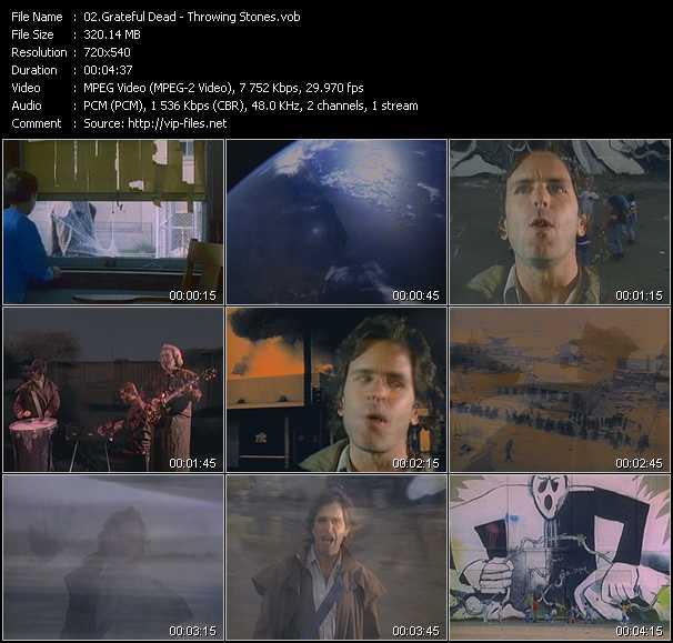 Grateful Dead video screenshot