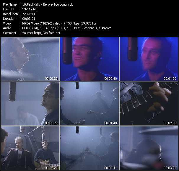 Paul Kelly video screenshot
