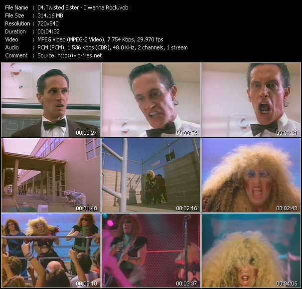 Twisted Sister video screenshot