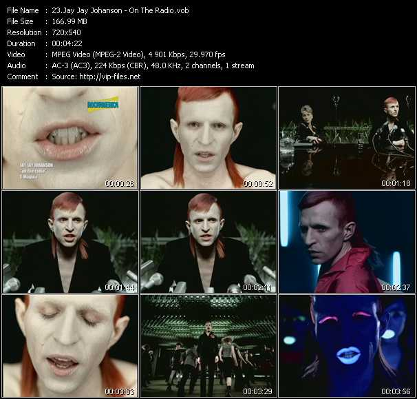 Jay Jay Johanson video screenshot