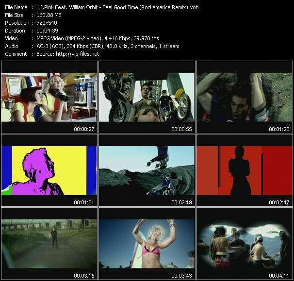 Pink Feat. William Orbit video screenshot