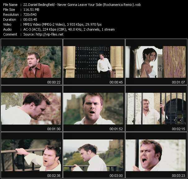 Daniel Bedingfield video screenshot