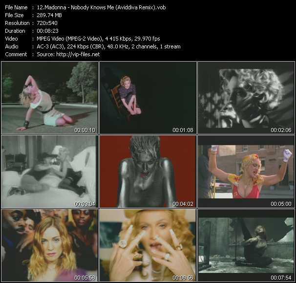 video Nobody Knows Me (Aviddiva Remix) screen