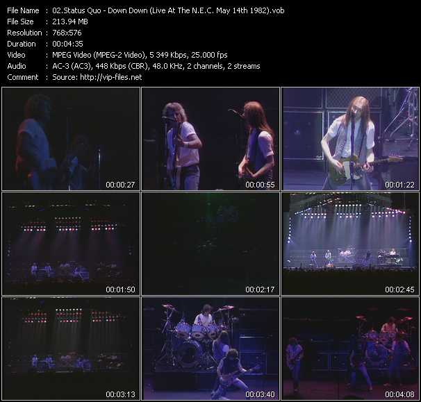 video Down Down (Live At The N.E.C. May 14th 1982) screen