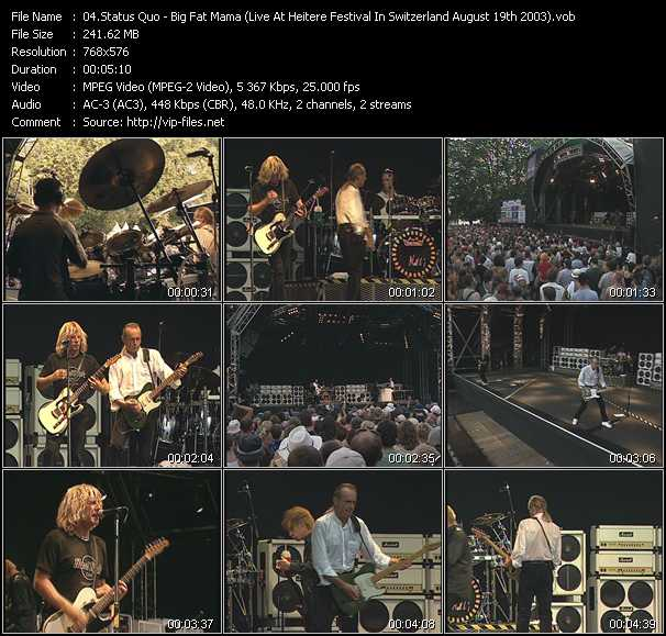 video Big Fat Mama (Live At Heitere Festival In Switzerland August 19th 2003) screen