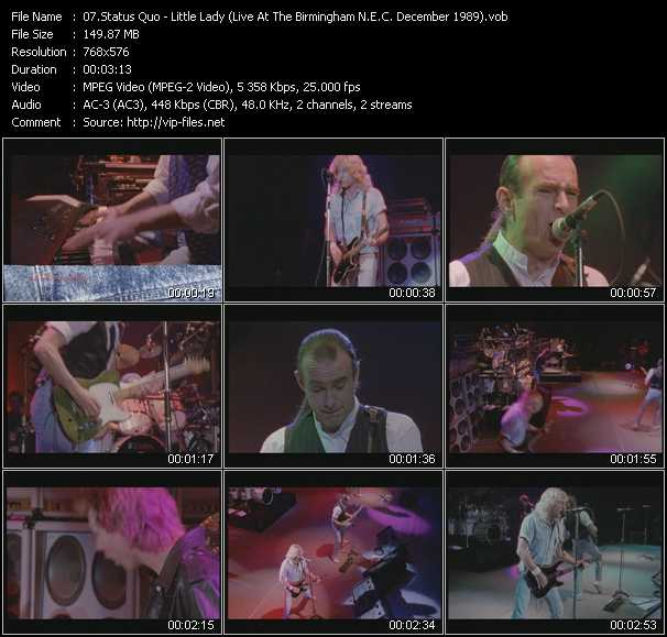 video Little Lady (Live At The Birmingham N.E.C. December 1989) screen