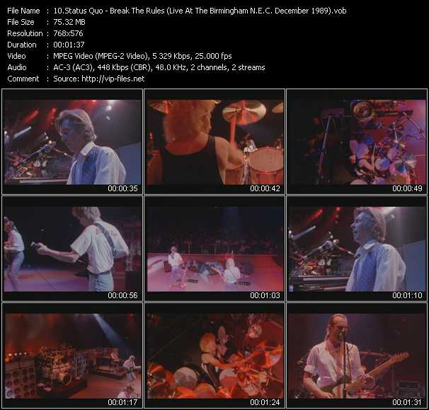 video Break The Rules (Live At The Birmingham N.E.C. December 1989) screen