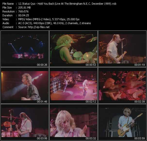 video Hold You Back (Live At The Birmingham N.E.C. December 1989) screen