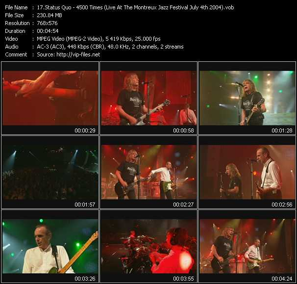 video 4500 Times (Live At The Montreux Jazz Festival July 4th 2004) screen