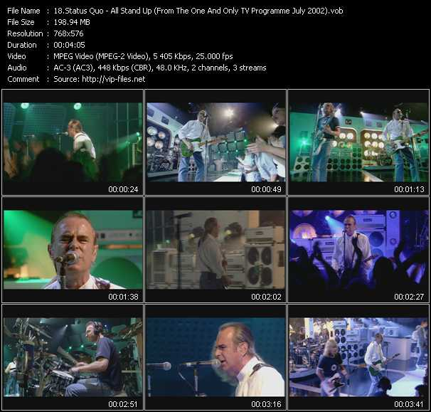 video All Stand Up (From The One And Only TV Programme July 2002) screen