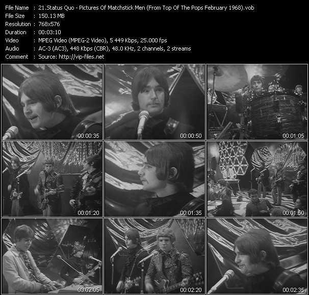 video Pictures Of Matchstick Men (From Top Of The Pops February 1968) screen