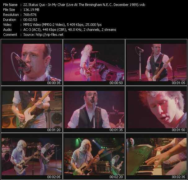 video In My Chair (Live At The Birmingham N.E.C. December 1989) screen