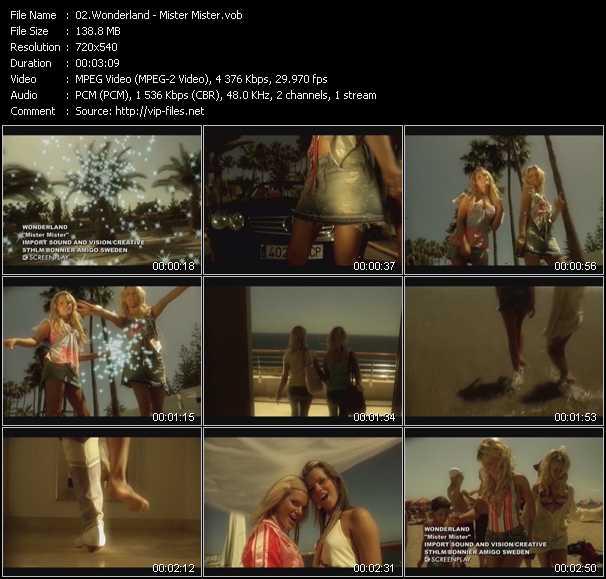 Wonderland video screenshot