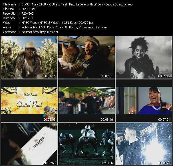 Missy Elliott - Outkast Feat. Patti LaBelle With Lil' Jon - Bubba Sparxxx video screenshot