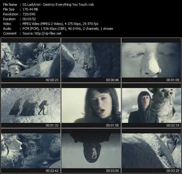Ladytron video screenshot