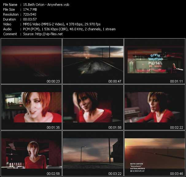 Beth Orton video screenshot