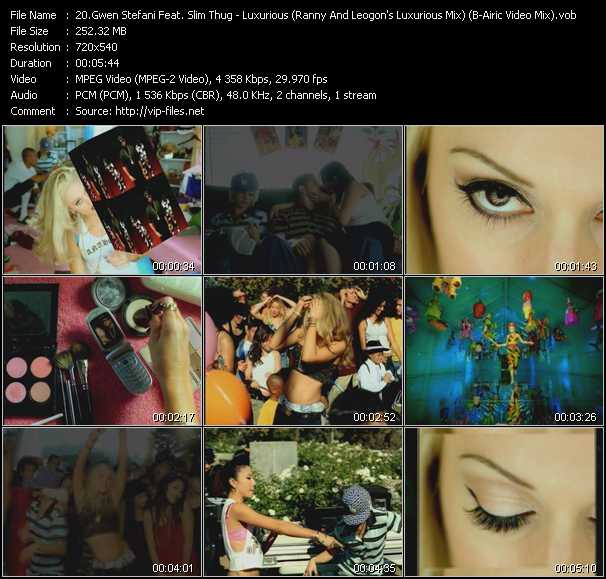 video Luxurious (Ranny And Leogon's Luxurious Mix) (B-Airic Video Mix) screen