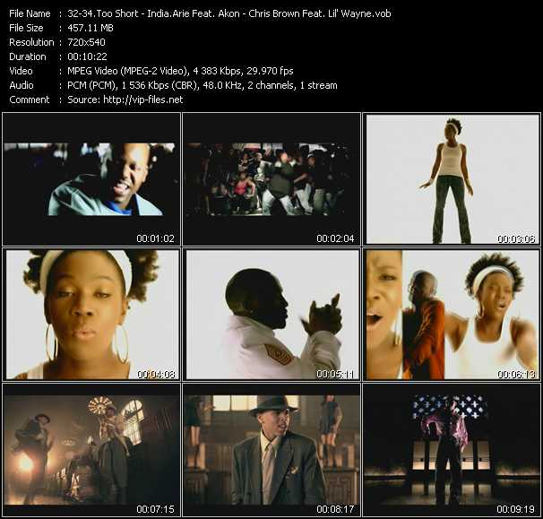 Too Short - India.Arie Feat. Akon - Chris Brown Feat. Lil' Wayne video screenshot