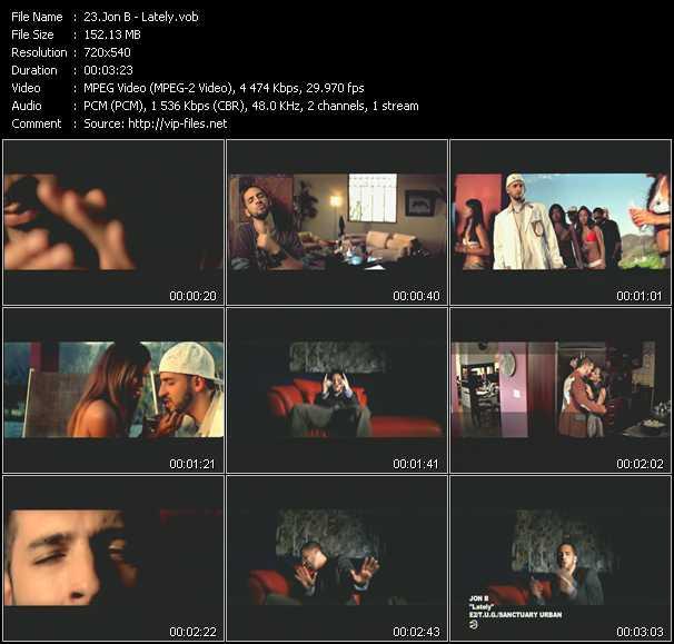 Jon B video screenshot