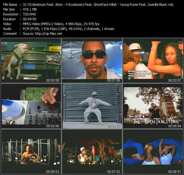 Beatnuts Feat. Akon - X-Ecutioners Feat. Ghostface Killah, Trife And Black Thought - Young Rome Feat. Guerilla Black video screenshot