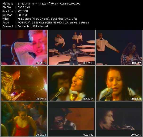 Shannon - A Taste Of Honey - Commodores video screenshot