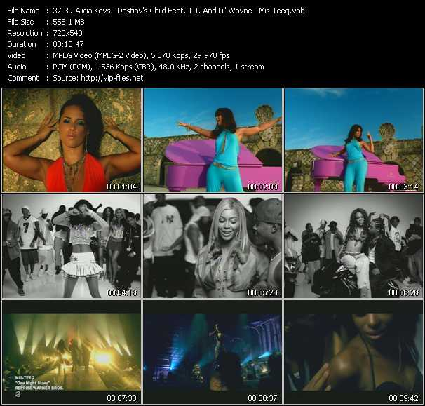 Alicia Keys - Destiny's Child Feat. T.I. And Lil' Wayne - Mis-Teeq video screenshot