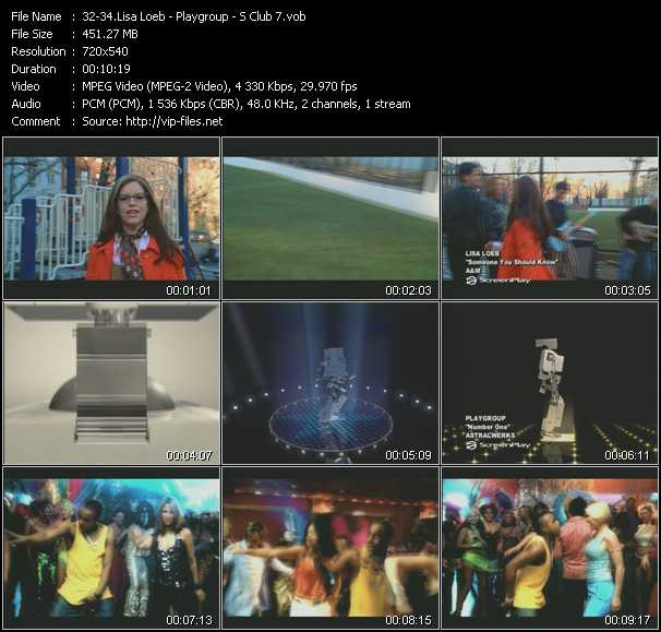 Lisa Loeb - Playgroup - S Club 7 video screenshot