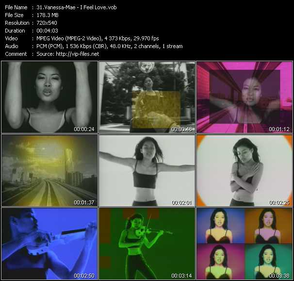 Vanessa Mae video screenshot