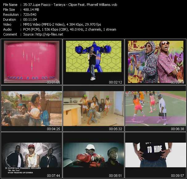 Lupe Fiasco - Tanieya - Clipse Feat. Pharrell Williams video screenshot