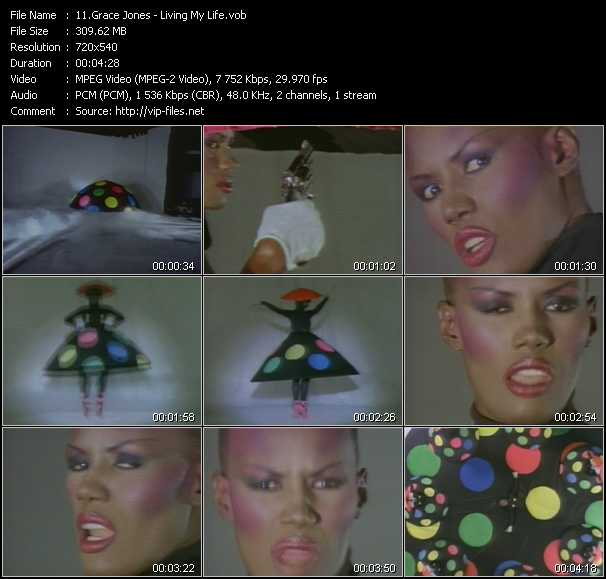 Grace Jones video screenshot