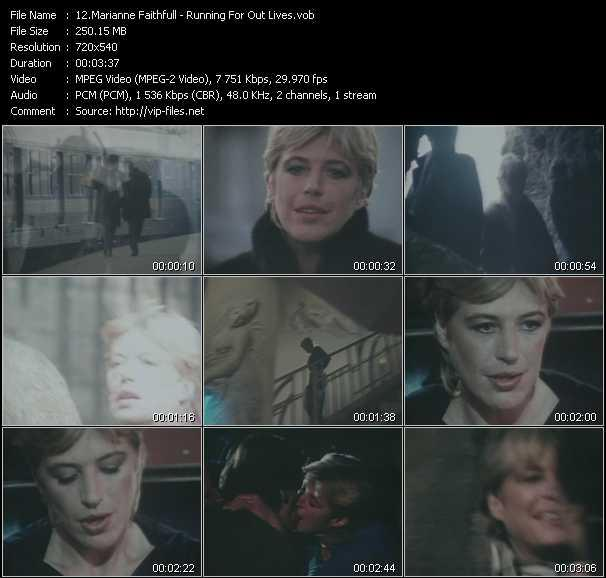 Marianne Faithfull video screenshot
