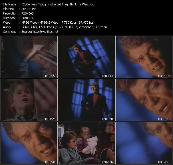 Conway Twitty video screenshot