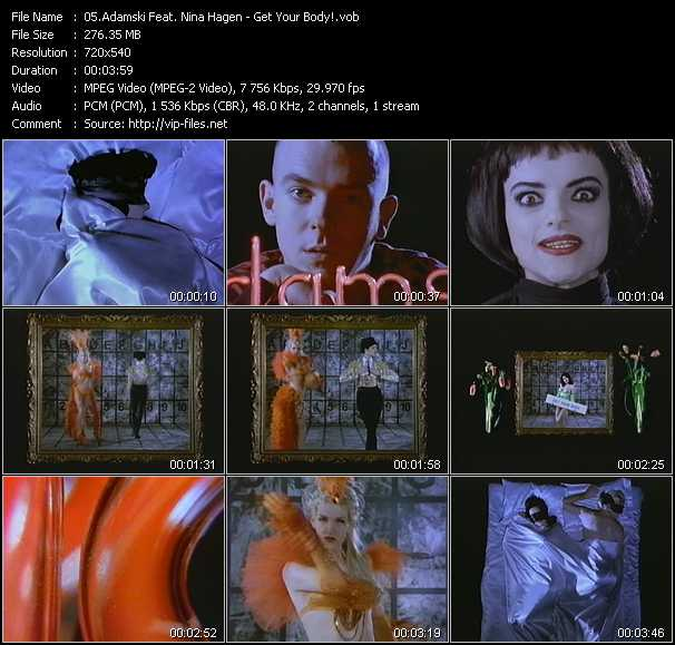Adamski Feat. Nina Hagen video screenshot