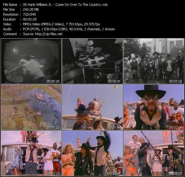 Hank Williams Jr. video screenshot