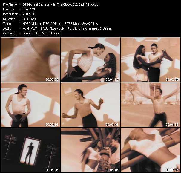 video In The Closet (12 Inch Mix) screen