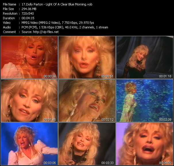 Dolly Parton video screenshot