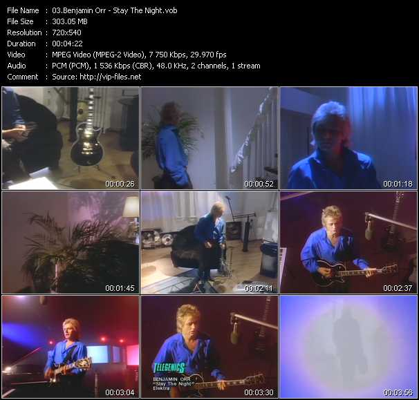 Benjamin Orr video screenshot