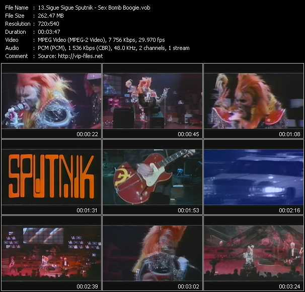 Sigue Sigue Sputnik video screenshot