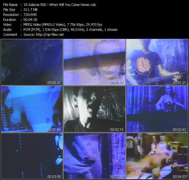 Galaxie 500 video screenshot