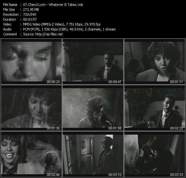 Cheryl Lynn video screenshot