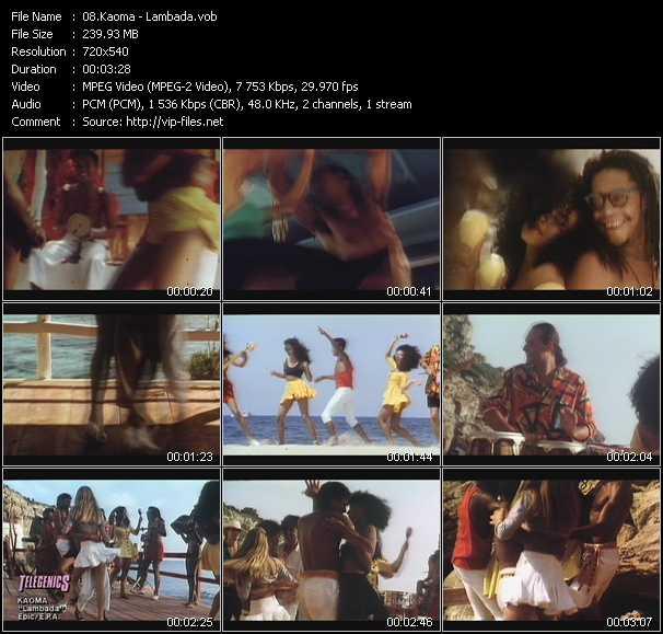 Kaoma video screenshot