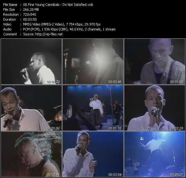 Fine Young Cannibals video screenshot