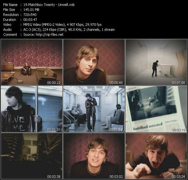 Matchbox Twenty video screenshot