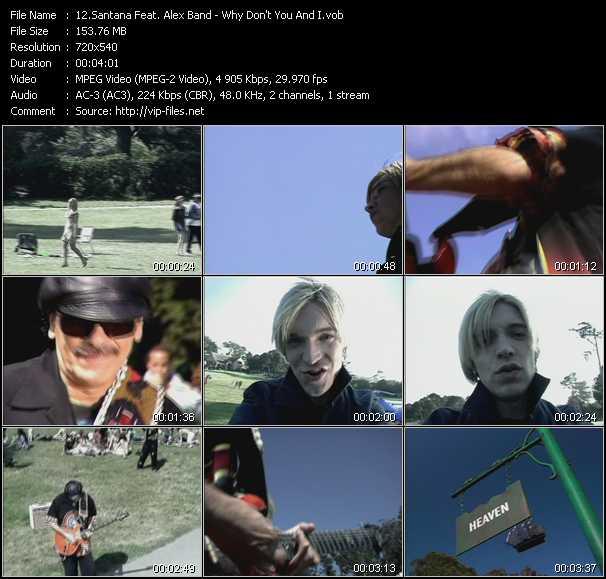 Santana Feat. Alex Band video screenshot