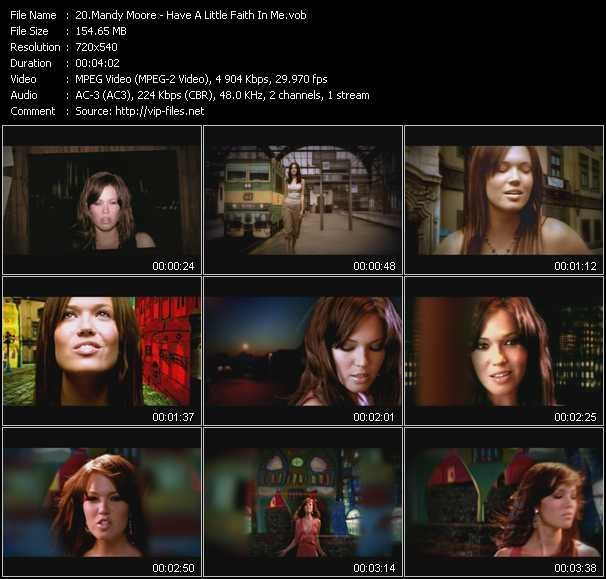 Mandy Moore video screenshot